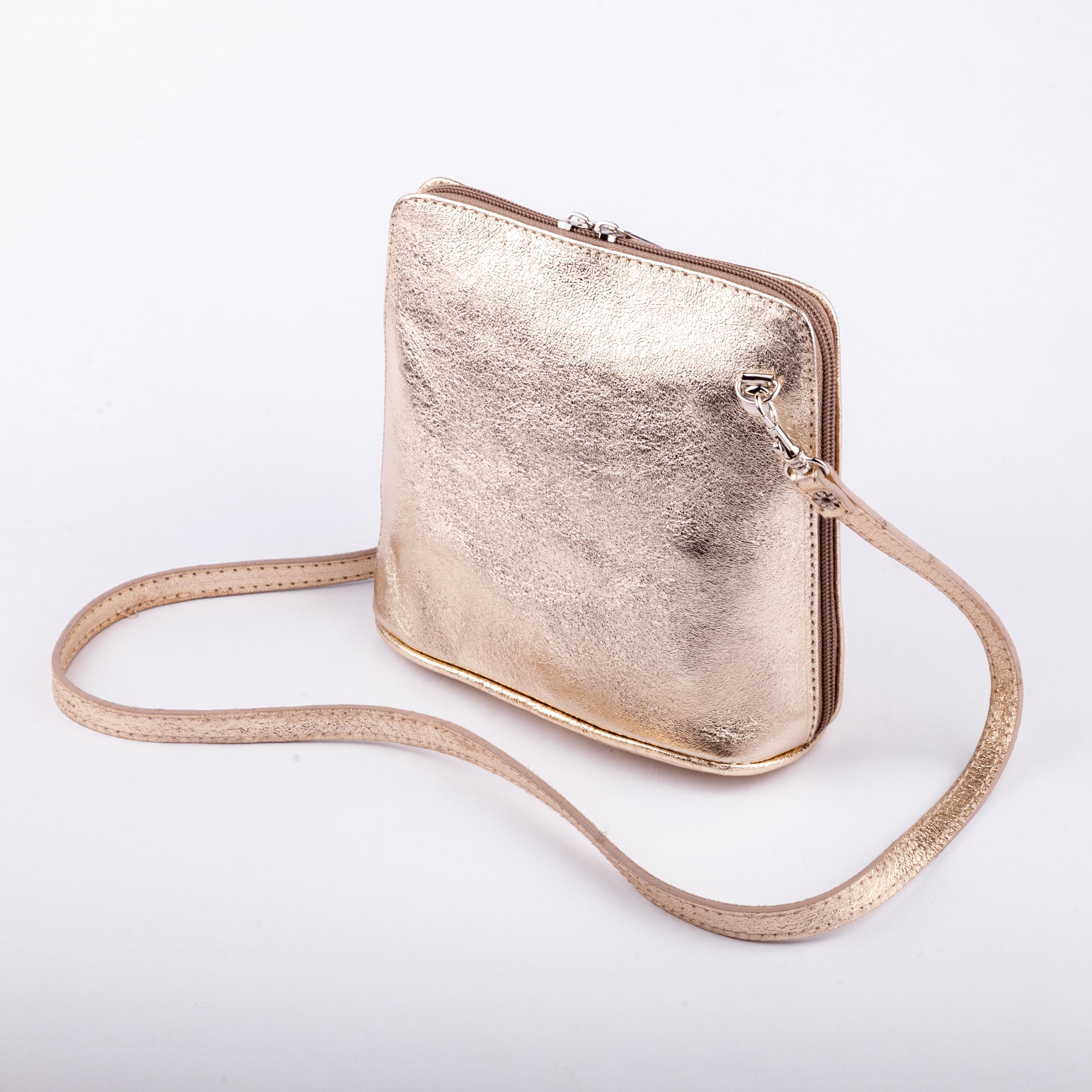 Zlatá kabelka croossbody 7100229